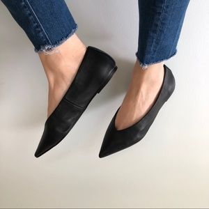 Topshop Black Ballerina Pointy Flats 7.5